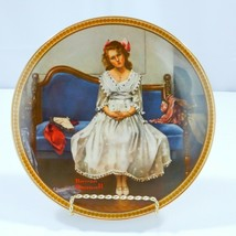 Waiting At The Dance Collector Plate Norman Rockwell Knowles 1993 No COA - $16.83
