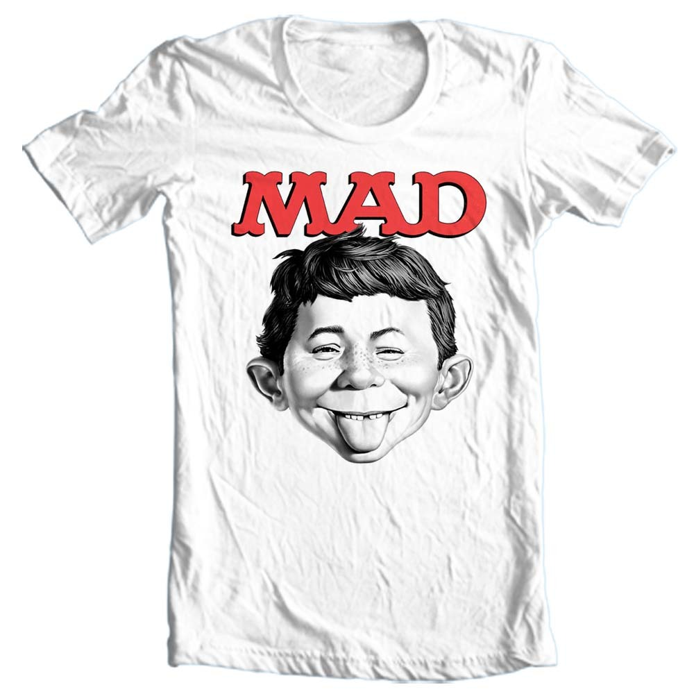 3d5e574f7 MAD Magazine Alfred E Newman T-shirt retro 1970's funny graphic tee WBT349