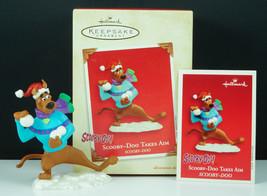 Hallmark Ornament SCOOBY-DOO TAKES AIM Snowball Fight New In Box 2003 - £10.70 GBP