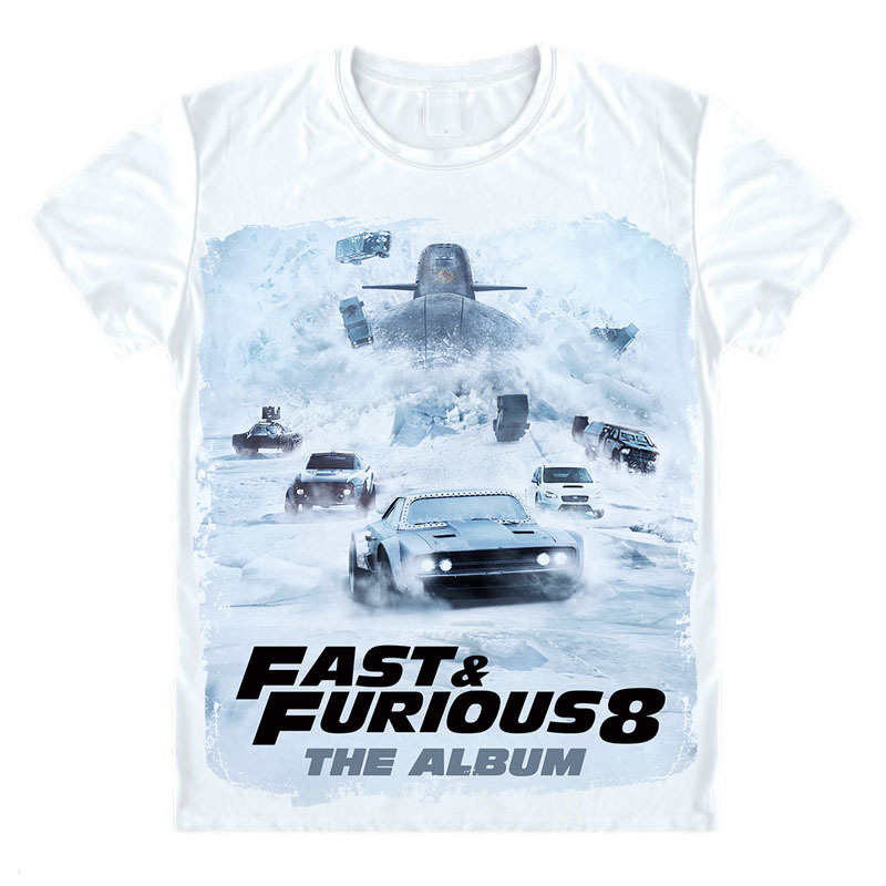 The Fate of the Furious Fast and Furious 8 Men summer T Shirt top tees for sale  USA