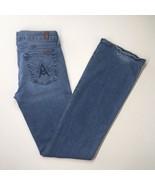 7 Seven For All Mankind Women's Sz 29 A Pocket Embellish Stretch Light B... - $22.66