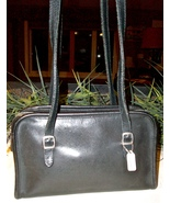 Coach Swing Zip Leather Shoulder Bag Black 9051... - $32.00