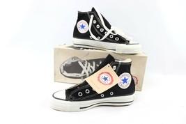 Vintage 90s Converse All Star Hi 4.5 W 6.5 Chuck Taylor Schuhe Schwarz USA - $202.03