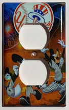 NY Yankees Mickey Donald Duck Light Switch Outlet Wall Cover Plate home decor image 2