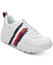Tommy Hilfiger Women's Envoy Street Savvy Lace-Up Leather Fashion Sneakers Shoes