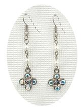 Women beautiful Clear white Swarovski crystal clover drop pierced earrings - ₹1,367.54 INR