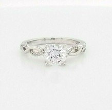 Hearts on Fire CZ Engagement Ring w/Dia's 18K White Gold  $2,200 Retail ... - $1,356.30