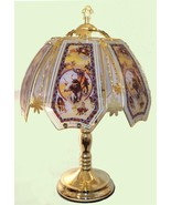 Rodeo Glass Panel Polished Brass Finish Touch Lamp NEW - $45.99