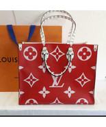 Louis Vuitton ONTHEGO Tote Giant Red Monogram bag 2019 ON THE GO M44569 ... - $3,940.20