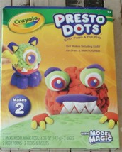 Brand New In Box Crayola Model Magic Presto Dots Monsters Craft Kit - $19.79