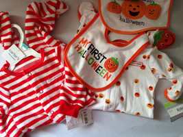NWT Carter's Baby Essentials Lot Bibs Rompers Halloween Christmas Santa ... - $16.99