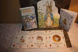 Beatrix Potter Set of 5 Children's Books & VHS Tape Peter Rabbit and Fri... - $10.93