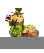 Non Metal Bejeweled Lucky Leprechaun & Pot Of Gold Trinket Box (Length=1... - $50.11