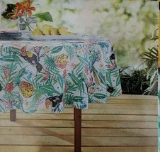 "NEW! Sea Life Vinyl Tablecloth 70"" Round Indoor Outdoor By Mainstays - $10.99"