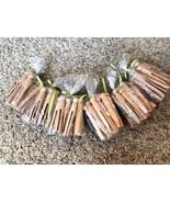 72 Vintage Wooden Clothes Pins Round Head Primitive Antique Laundry Decor - $20.78