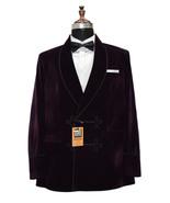 Men Purple Smoking Jackets Designer Dinner Party Wear Wedding Blazer Coat - $149.99