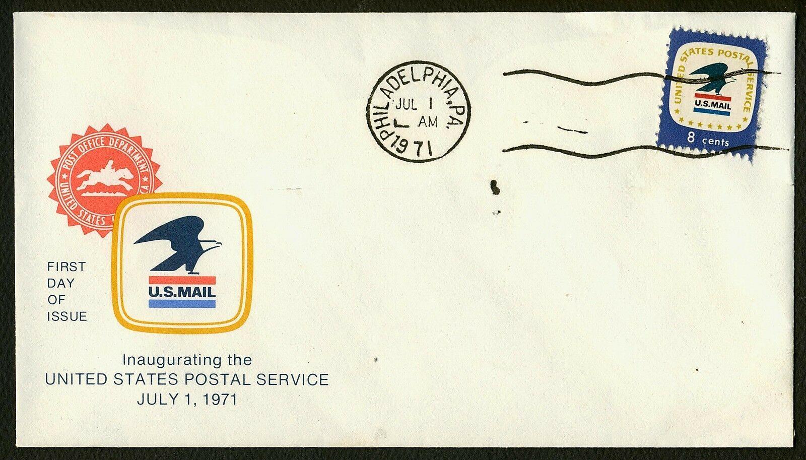 USPS Inauguration July 1, 1971-Philadelphia PA **ANY 4=FREE SHIPPING**