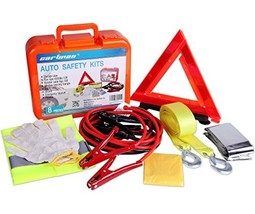 CARTMAN Roadside Assistance Auto Emergency Kit Set, Jump Cables 6Ga + To... - $35.73