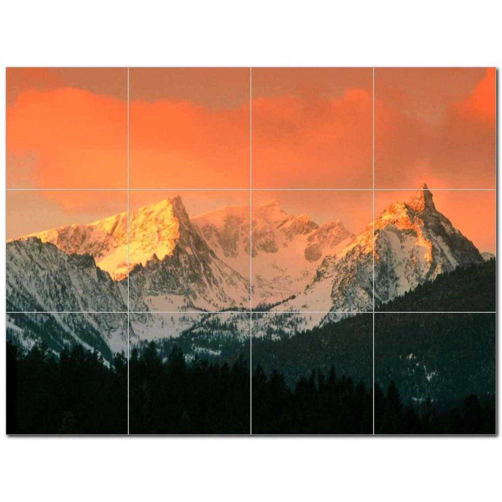 Primary image for Mountain Photo Ceramic Tile Mural Kitchen Backsplash Bathroom Shower BAZ405510