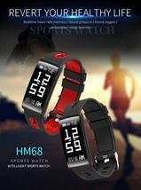 HM68 Smart Wristband Fitness Tracker Heart Rate Blood Pressure Blood Oxygen Fitn - $65.00