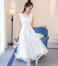 2017 Summer Beach Dress Cute Style Chiffon Lace Dresses Women Long Dress... - $42.84