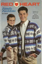 Red Heart Family Fashions To Knit Sweater Pattern Book 1426 Coats & Clark - $6.99