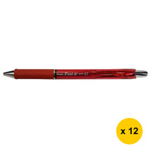 Pentel Feel-it BX477 0.7mm Retractable Ballpoint Pens (Pack of 12), Red,... - $19.99
