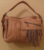 NEW JUNIOR DRAKE Kirrin Latte Leather Shoulder Bag Handbag NWT (MAKE AN ... - $285.12