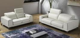 VIG Furniture Estro Salotti Bolton Italian Leather White/Blue Sofa Set 3... - $100.408,76 MXN