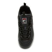 Fila Womens Disarray Black Leather Sneaker Walking Shoe Running Dad Size... - $27.76