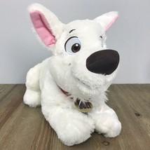 "Disney Bolt 2nd Wave Lying Down Dog White Plush 12"" - $18.80"