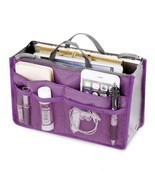 Organizer Handbag Women Fashion Travel Cosmetic Makeup Storage Zip Cross... - $179,93 MXN