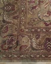 Densely Knotted Genuine Handmade 9 x 13 Brown Jaipur Wool Rug image 2