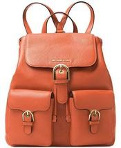 NWT Michael Kors Women's Cooper Large Flap Backpack, Orange - $189.13