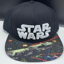 Star Wars snapback hat cap millennium falcon space battle fight rim solo lando - $19.60