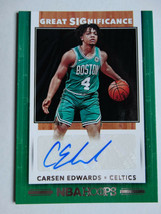 2019-20 Hoops Carsen Edwards Celtics Great SIGnificance Auto Basketball ... - $22.99
