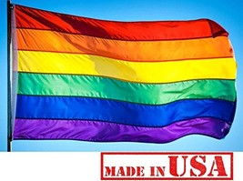 US Flag Factory - 4x6 FT Rainbow Flag Individually Sewn Stripes Outdoor ... - $37.54