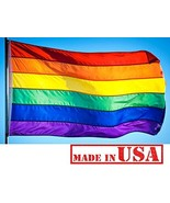 US Flag Factory - 4x6 FT Rainbow Flag Individually Sewn Stripes Outdoor ... - $37.18