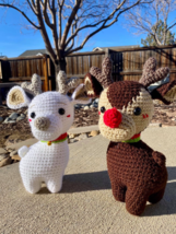 Christmas Reindeer Snowball and Rudolph - $25.00+