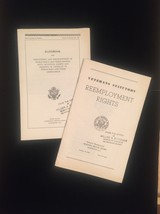 1945 Veterans Benefits and Reemployment booklets