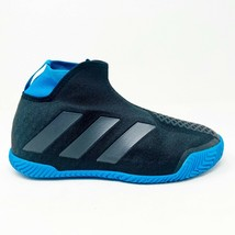 Adidas Stycon Laceless Tennis Shoes Black Blue Womens Size 8 EG1484 - $69.95