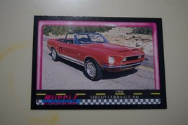 MUSCLE CARDS SERIES 1 KING OF THE HILL #25 1968 SHELBY COBRA GT 500 - $3.72