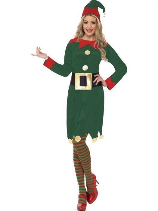 Smiffys Elfo Santas Ayudante Navidad Adulto Mujer Disfraz de Navidad 31995