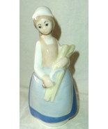 """Rex Valencia Figurine Woman With Wheat 6"""" Tall Made in Spain - $15.67"""