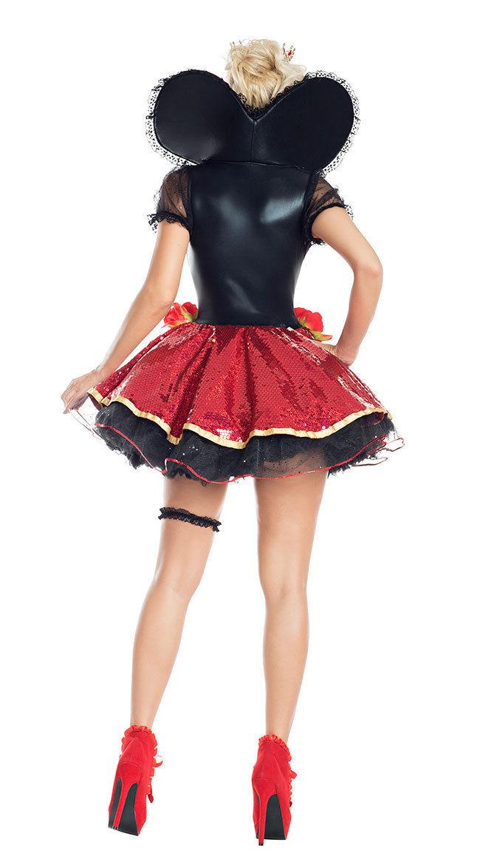 Sexy Party King Heartthrob Queen Sequin Dress Deluxe Wonderland Costume PK900