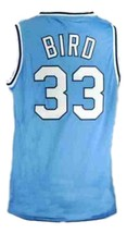 Larry Bird #33 College Basketball Jersey Sewn Blue Any Size image 4