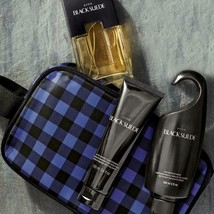 Avon Black Suede For Men Trinity Holiday Dopp Gift Set - $35.26