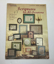 Vintage Leisure Arts Scriptures for All Occasions Leaflet 355 w/26 Designs - $4.90
