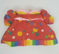 VINTAGE CABBAGE PATCH KIDS CLOWN CIRCUS OUTFIT PLUSH PINK SHIRT & RAINBO... - $15.90