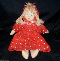 "14"" Vintage Lillian Vernon Valentine Doll Fabric Cloth Stuffed Animal Plush Toy - $26.75"